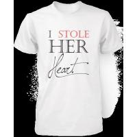 Buy cheap I Stole Her Heart So I'm Stealing His Last Name Matching Couple Shirts (Set) from wholesalers