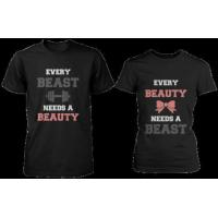 Every Beauty Needs A Beast Matching Couple Shirts (Set) Manufactures