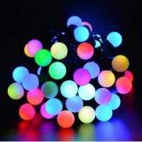 Buy cheap 50 RGB Ball LED Color Changing with 16 Feet Linkable Ball String Christmas Xmas Lights from wholesalers