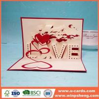 China Handmade Card Pop Up Thank You Card Template Free on sale