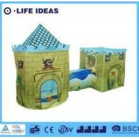 China Kids play tent 3-in-1Kids Pop Up Pirate Castle Play Tent with tunnel on sale