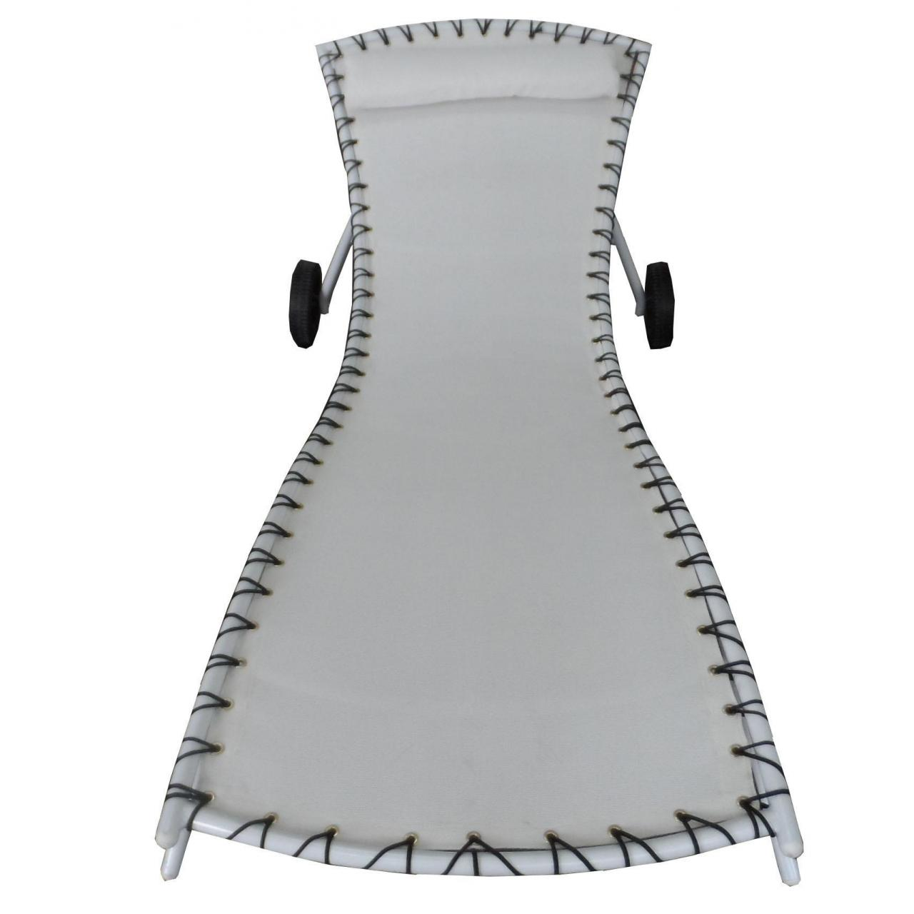Sun loungers Aluminum KD sunlounger with wheels Manufactures