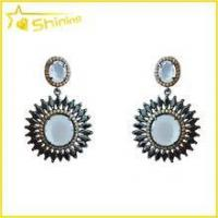 Brazil style fashion jewelry with colored gemstone paved latest artificial earrings Manufactures