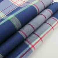 China nylon and spandex fabric Nylon Cotton Spandex Fabric Plaid Style For Shirt on sale