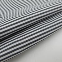 black and white cotton fabric Yarn Dyed Black And White Stripe Cotton Fabric Manufactures