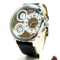 Curtis & Co Stainless Steel Big Time World 3 Time Zone Brown Watch Manufactures