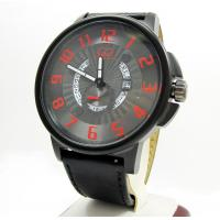 Curtis & Co Black Stainless Steel Big Time Cool Black/red Watch Manufactures
