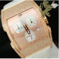 "3.25ct Aqua Master Genuine Diamond Watch ""rose Case With Rose Dial"" Manufactures"
