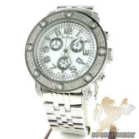 Mens Joe Rodeo White Stainless Steel Apollo Diamond Watch 1.70ct Manufactures