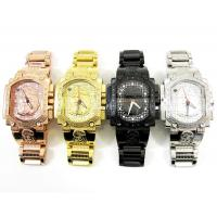 Buy cheap Mens Aqua Master Stainless Steel Diamond Jesus Face Watch 0.20ct from wholesalers