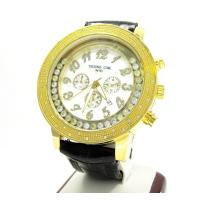 Buy cheap Techno Com Kc Yellow Stainless Steel Floating Bezel Diamond Watch 0.50ct from wholesalers