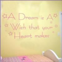 Baby / Nursery Wall Stickers A Dream is a Wish that your Heart Makes ~ Wall sticker / decals Manufactures