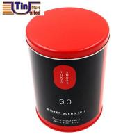 PMS Large and PMS Red Middle Round Tea Storage Arch Lid Tin Canister Manufactures