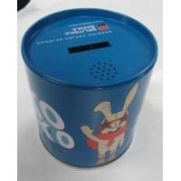 Small Round Three Pieces Plug Tin Coin Bank Manufactures