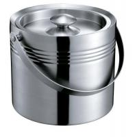 IB047-05 2.2L Stainless Steel Double-Walled Bar Ice Bucket Wine Cooler Ice Container With Lid Manufactures