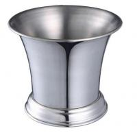 IB013 1L Stainless Steel Barware Wine Cooler Ice Bucket Open-Mouth Metal Bucket with Stand Manufactures