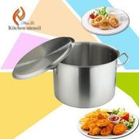 China Commercial industrial cookware stainless steel stock pot with double-ply bottom on sale