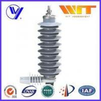 China 24 KV Gray MOA Electronic Polymeric Polymer Lightning Arrester Used in Substation on sale