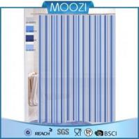 China Shower Curtain Blue Strip Shower Curtain /Bathroom PEVA Shower Curtain on sale