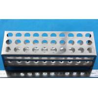 China Rectangle stainless steel test tube rack on sale