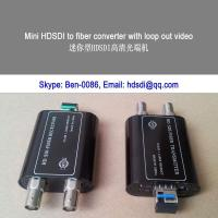 China Mini HD SDI video to Fiber converter with embed audio on sale