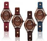 China DH6070Fashion lady watch blue leather strap watch hot selling in Europe on sale