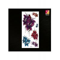 Colored Flower Tattoo Sticker 3D-16 Manufactures
