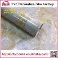 Buy cheap Marble film Marble film self-adhesive pvc decoration film 1.22*50M from wholesalers