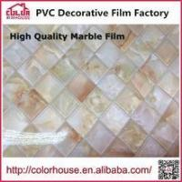 Buy cheap Marble film Self adhesive Marble film sticker decorative pvc film from wholesalers