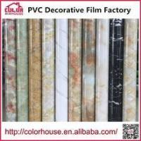 Buy cheap High quality self adhesive decorative film adhesive glue Marble film from wholesalers