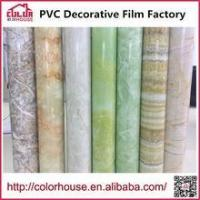 Buy cheap Marble film PVC Film Self adhesive decorative marble film 1.22*50m from wholesalers