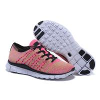 China FLYKNIT 5.0 Outdoor Sneakers Medium Mesh Cut-out Flat Sports Running Shoes for Women on sale