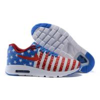 China Air Max 1/87 Nike Air Max 1 Ultra Moire Womens Shoe USA White/Blue-Red on sale