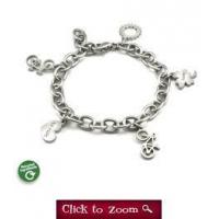 Recycled Stainless Steel Cycling Charm Bracelet Manufactures