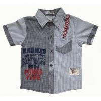 China Boy Summer Style Checkered Short Sleeve Shirts on sale