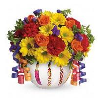 Birthday Teleflora's Brilliant Birthday Blooms.No.6 delivery birthday to Manufactures