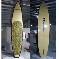 China Durable 11ft6 Bamboo Paddle Board fishing Slight Nose Concave Vee through fin on sale