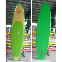 China bamboo stand up paddle board wih green color on sale
