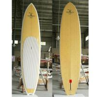 China 11ft BAMBOO SUP PADDLE BOARD WHITE RAIL on sale