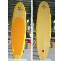 China Fish tail Round Nose Bamboo Stand Up Paddle Board surfing paddle on sale