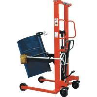 China Hydralic Oil Drum Lifting Stacker with Tilt Device to Dump The Oil Easily on sale