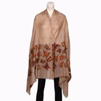 China Pure cashmere shawls with captivating woven borders wholesale