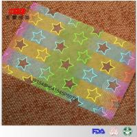China Hologram Id Overlay Colorful hologram ribbon with stars pattern on sale