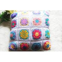 China Coloful Design Of Pure Cotton Handmade Crocheted Throw Pillow on sale