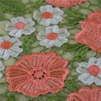2016 Popular Pink Flower Embroidery Lace Trim From China Manufactures