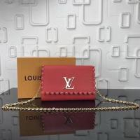 Louis Vuitton Calfskin Leather LOUISE MM M54584 Red Manufactures