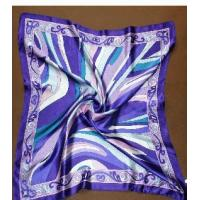 China Fashion Digital Printed 100% Silk Twill Square Scarves on sale