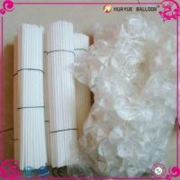 White and Multi Color 27cm 32cm 40cm Plastic Sticks with Cups for Latex Balloons Manufactures