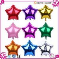 Solid Color Five Star Shaped Helium Foil Balloons Manufactures