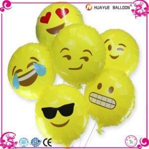 Quality 18 Inch Emoji Helium Foil Mylar Balloons for sale